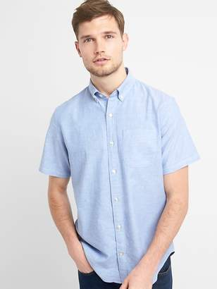 Gap Oxford Short Sleeve Shirt in Stretch