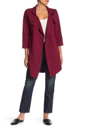 Bobeau Lightweight Open Trench Jacket (Regular & Petite)