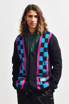 Lazy Oaf Check Stripe Cardigan