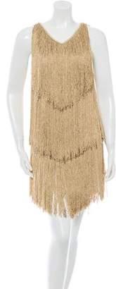 Azzaro Fringed Mini Dress