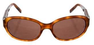 Montblanc Tortoiseshell Narrow Sunglasses