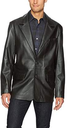 Excelled Men's Lambskin Leather Blazer