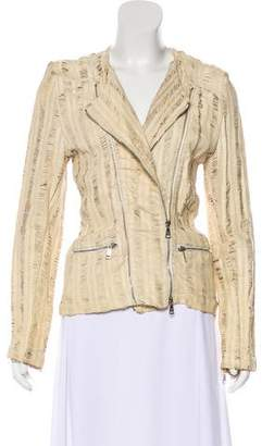 Giorgio Brato Perforated Leather Jacket w/ Tags