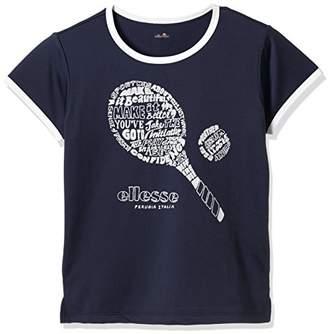 Ellesse (エレッセ) - (エレッセ) ellesse テニスウェア ラケットTシャツ EW18102 [レディース] EW18102 NY ネイビー (NY) 130