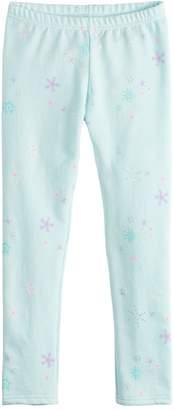 Girls 4-12 Jumping Beans Print Fleece Leggings
