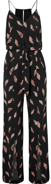Seychelles Nore Printed Jersey Jumpsuit - Black