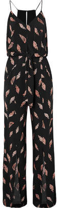 Vix Seychelles Nore Printed Jersey Jumpsuit - Black