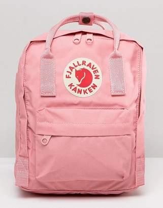 Fjallraven Classic Mini Kanken Backpack In Pastel Pink