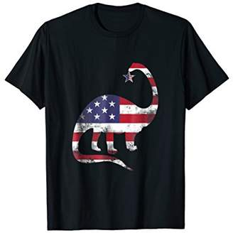 American Flag Dinosaur T Shirt - T Rex Tee - 4th July Gifts