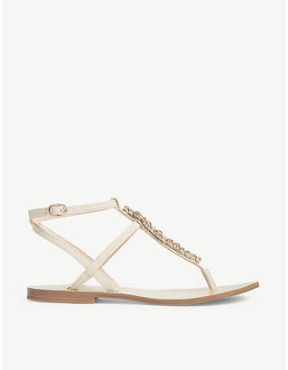 Aldo Whitwell embellished T-bar sandals