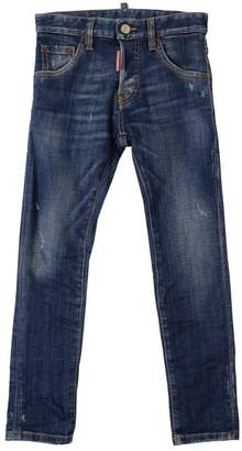 DSQUARED2 Destroyed Stretch Cotton Denim Jeans