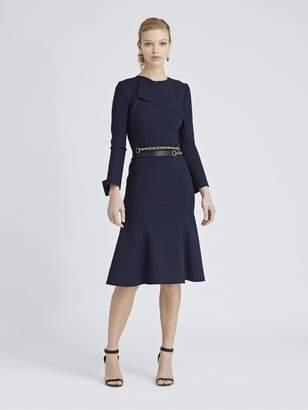 Oscar de la Renta Double-Face Stretch-Wool Dress