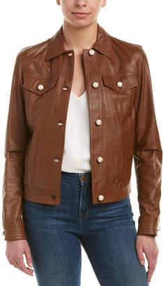 Pinko Quadrato Leather Jacket