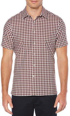 Perry Ellis Herringbone Check Sport Shirt