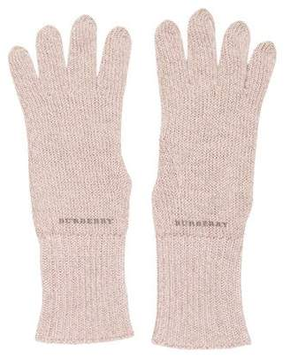 Burberry Cashmere-Blend Knit Gloves