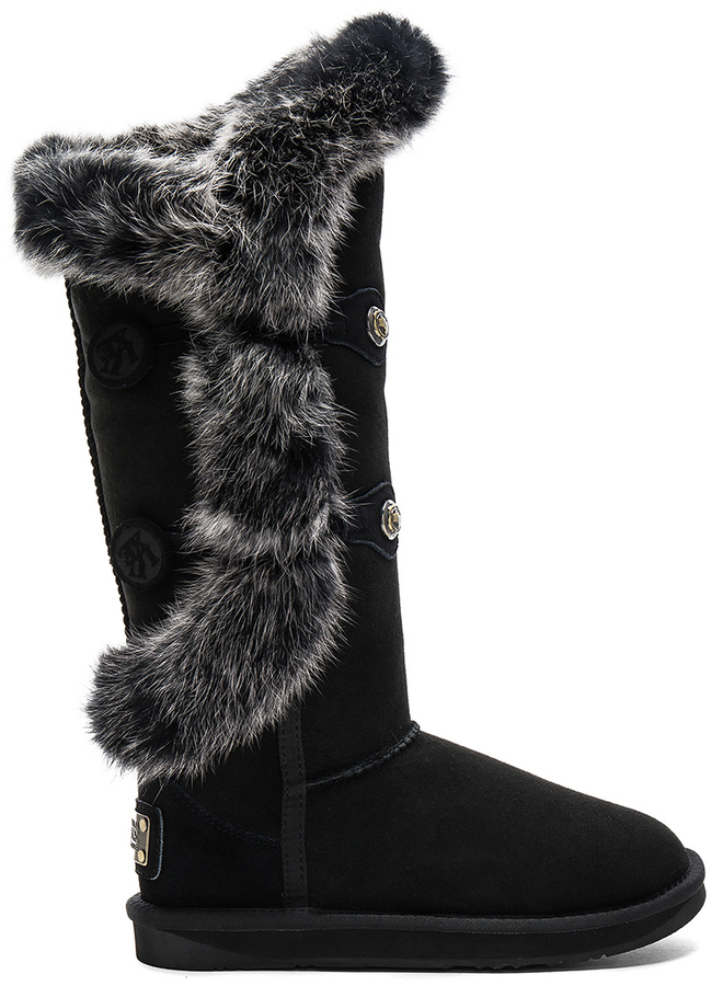 Australia Luxe Collective Australia Luxe Collective Nordic Angel X Tall Rabbit Fur and Shearling Boot