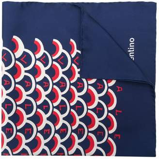 Valentino scalloped logo print scarf