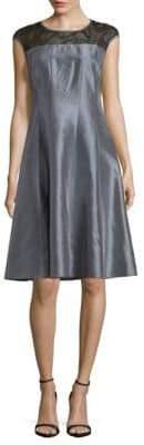 Lafayette 148 New York Kristen Silk A-Line Dress