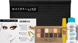 Maybelline New York NY Minute Makeup Kit 24K Smoky Eyeshadow Mascara Makeup Remover Kit