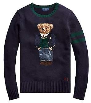 Polo Ralph Lauren Women's Bear Intarsia Wool & Cashmere Blend Sweater