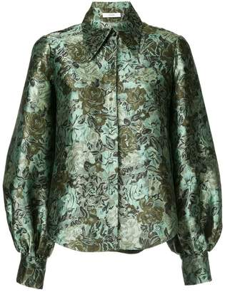 Erdem floral print bell sleeve shirt