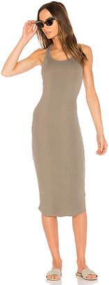 MONROW Scoop Neck Rib Tank Dress