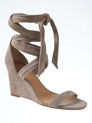 Ankle Wrap Wedges $148 thestylecure.com