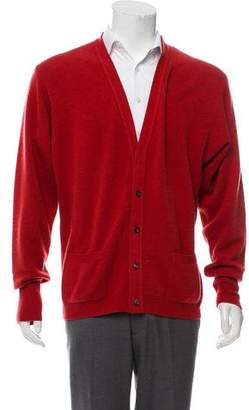 Hermes Cashmere Button-Up Cardigan