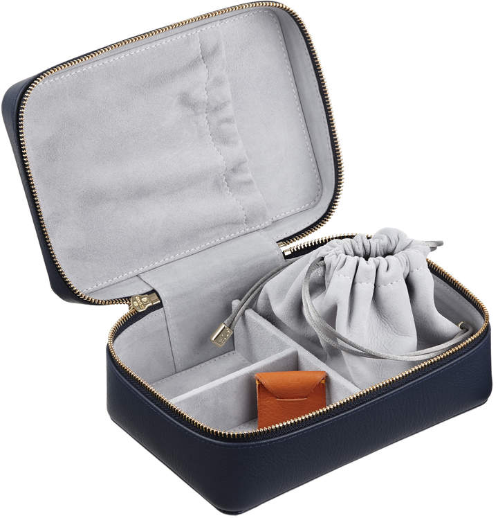 Personalized Leather Travel Jewelry Box