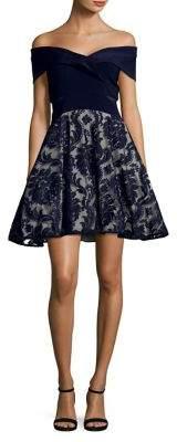 Xscape Evenings Off-The-Shoulder Party Dress