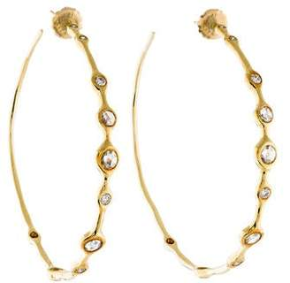 Ippolita 18K Diamond Hoop Earrings