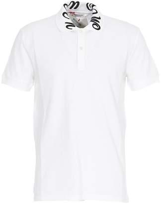 Alexander McQueen Embroidered Collar Polo Shirt