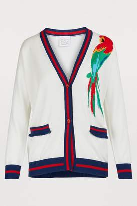 Stella Jean Embroidered parrot cardigan