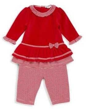 Kissy Kissy Baby's Two-Piece Santa Helper Dress and Leggings Set
