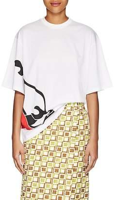 Prada Women's Flame-Shoe-Print Cotton T-Shirt