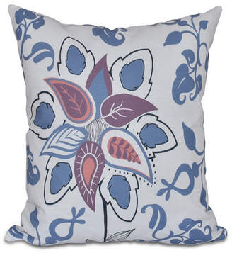 Paisley Pop 16 Inch Blue Decorative Floral Throw Pillow