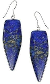 Lord & Taylor Sterling Silver and Lapis Drop Earrings