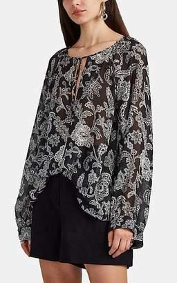 Nili Lotan Women's Acadia Paisley Silk Tunic - Black