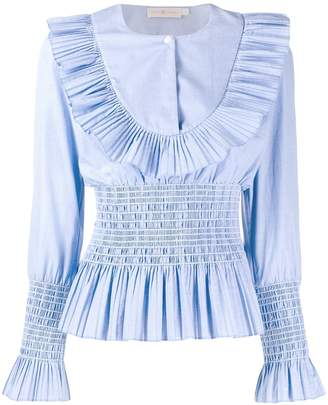 Tory Burch pleated long sleeve shirt