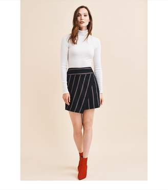 Dynamite Wrap Skirt With Buckle - FINAL SALE NAVY/RED/WHITE STRIPE
