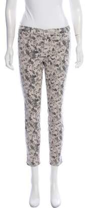 J Brand Mid-Rise Floral Jeans grey Mid-Rise Floral Jeans