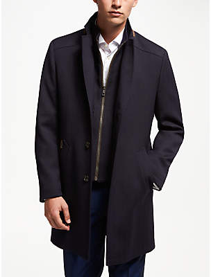 Bugatti Flex City Wool Blend Coat, Blue