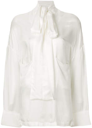 Ann Demeulemeester oversized pussy-bow blouse