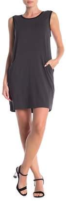 Matty M Patch Pocket Criss-Cross Tank Dress