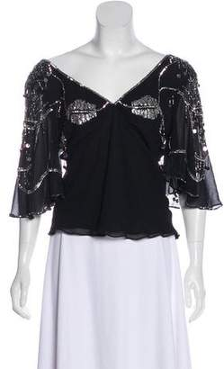 Temperley London Embellished Silk Top w/ Tags