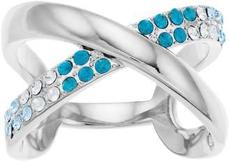 Brilliance+ Brilliance Ombre X Ring with Swarovski Crystals