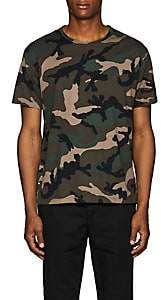 Valentino Men's Studded Camouflage Cotton T-Shirt - Olive