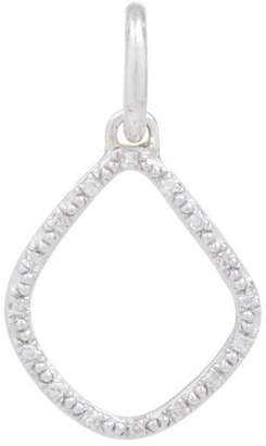 Monica Vinader Silver Diamond Kite Pendant