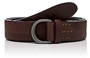 Felisi MEN'S D-RING LEATHER BELT-BROWN SIZE 38