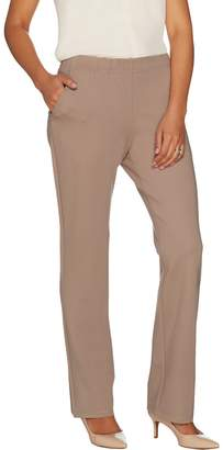 Dennis Basso Knit Straight Leg Pants with Pockets